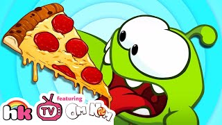 Om Nom Stories TASTY PIZZA TIME Funny Baby Animal Cartoons for Kids Children Cut The Rope Video Blog