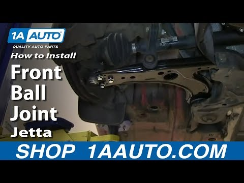 How To Install Replace Front Ball Joint 1999-06 VW Volkswagen Beetle Jetta and Golf