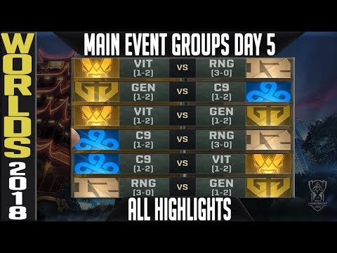 Worlds 2018 Day 5 Highlights ALL GAMES Main Event