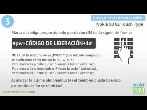 Liberar Nokia X3 02 Touch Type, Desbloquear Nokia X3 02 Touch Type