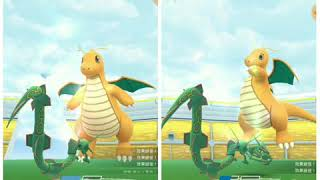 Pokemon Go - Dragonite Raid Duo by Rayquaza & Salamence(no weather boost)(marginal fail)(19/8/19 g2)