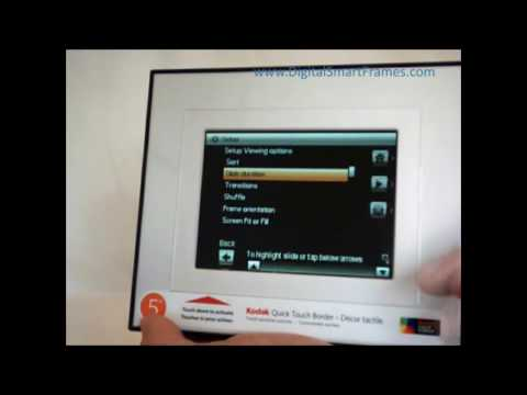 2009 Kodak Digital Photo Frames Quick Touch Border Overview