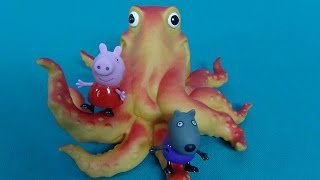 Peppa Pig in English. Peppa and Mr Octopus. Peppa Pig and her friends on the play ground