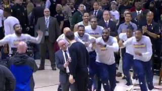 Cavs Mob Delly on His Ring Night   12.21.16