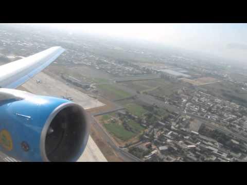 Uzbekistan Airways take off from Tashkent to Tel Aviv-BOEING 767-300ER -UK67006
