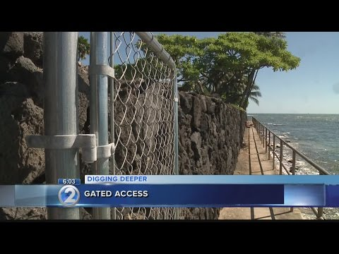 Privately installed gates along Diamond Head lack proper permits