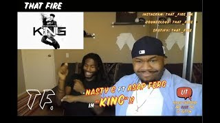 NASTY C ft A$AP FERG - King [Official Audio](Thatfire Reaction)
