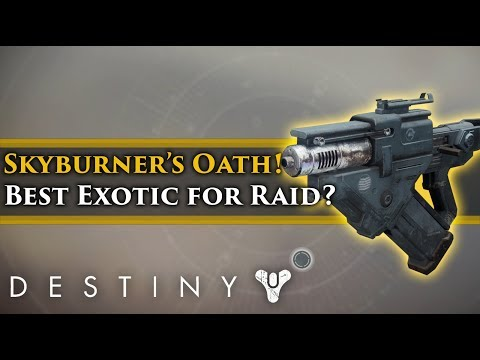 Destiny 2 - Skyburners Oath Exotic Scout Rifle! Is this the best Exotic for the raid?