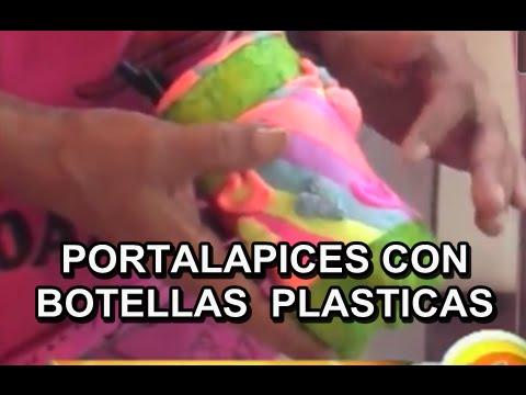 UN PORTA LAPIZ RECICLANDO BOTELLAS PLASTICAS 30A