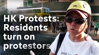 Hong Kong Protests: Residents turn on protestors