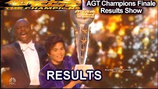 RESULTS  SHIN LIM WINS  AGT The Champions  | America's Got Talent Champions Finale Winner