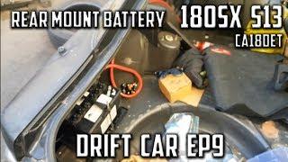 EP9 180sx S13 | Rear Battery Relocate, Fender & Bumper Removal | Drift Car Build | CA18DET
