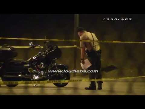 1 Dead 1 Wounded In  hell's Angels   mongols  Freeway Shootout   Corona   Raw Footage video