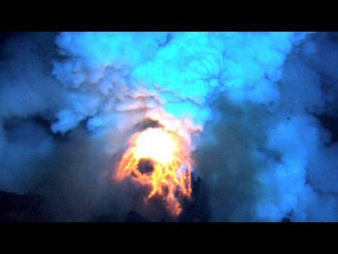 Undersea Volcano Eruptions Caught On Video Video