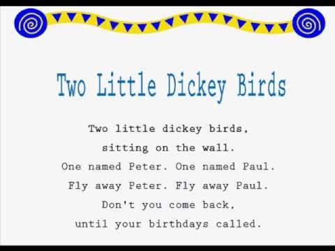 two little dickey birds /kids jump rope rhymes/ learning