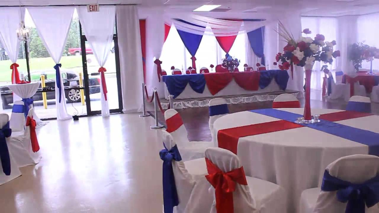 Military Retirement Red White and Blue theme at the All Events Hall ...