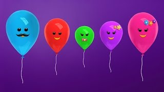 The Finger Family Balloon Family Nursery Rhyme | Balloon Finger Family Songs