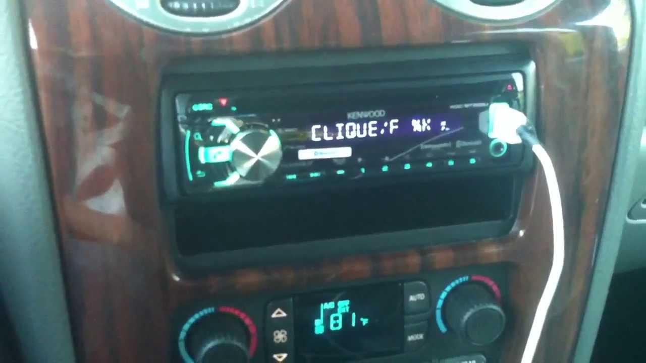 Kenwood radio in GMC Envoy XL SLT w/ Bose speakers and amp ...