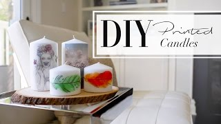 DIY Printed Candles | ANN LE & WhatsUpMoms