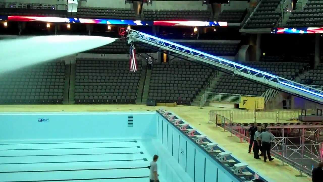 2012 U S Olympic Swim Trials Pool Filled Youtube