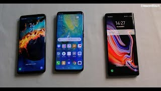 Comparatie Huawei Mate 20 Pro versus Samsung Galaxy Note 9 si S9 Plus