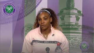 Serena Williams Runner-Up Press Conference Wimbledon 2019
