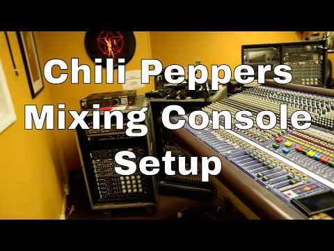 Mixing console setup for Chili Peppers