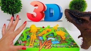 Dino Bagunça Joga Jogo Rampas e Escadas 3D Quem Vai Ganhar?
