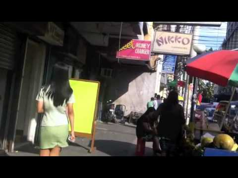 Hot Filipina Girl Walking in Ermita, Philippines
