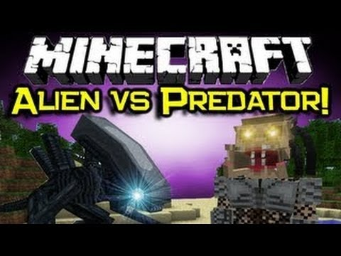 Обзор мода Minecraft Чужой Против Хищника! (Alien VS Predator) №53