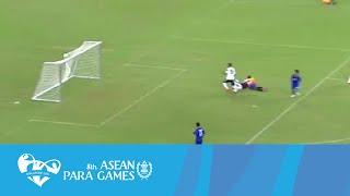 Cerebral Palsy football THA VS IND Day 1 Full-Time Highlights  8th ASEAN Para Games 2015