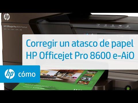 Corregir un atasco de papel - Impresora e-Todo-en-Uno HP Officejet 8600
