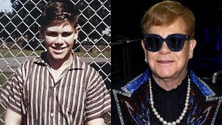 Elton John transformation from 0 to 70 years old