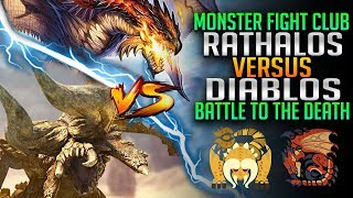 Rathalos VS Diablos - Who Is the Real King? - Monster Hunter World PC Fight Club