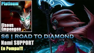 LOL S6 | RANKED EP#5 | Nami Support - Pompas al Teleport!! [Gameplay Español]