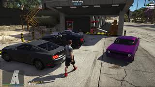 FIVEM - S.A.R.P - HUGE PINKSLIP BATTLE AT THE RACE TRACK! CHEVELLE HURTING FEELINGS!