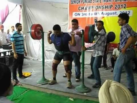 Sirtaj Singh (bronze medalist) -265 KG Squat @ Senior Punjab State Power-lifting