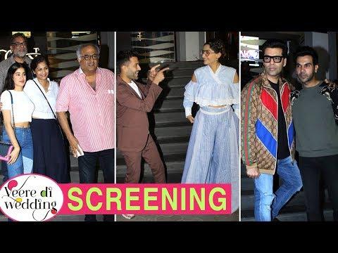 Kareena Kapoor Skips, Sonam With Anand, Janhvi Kapoor At Veere Di Wedding Screening | Full Event thumbnail