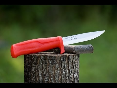 How to Sharpen a Mora or other scandi grind knives sharp knife