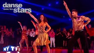 DALS S06 - Fabienne Carat et Julien dansent un disco sur ''You Should Be Dancing'' (Bee Gees)