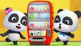Wat zit er in de verkoopautomaat? | Baby Panda's stoere auto | BabyBus tekenfilm