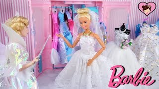 Barbie & Ken Wedding Morning Routine - A Princess Cinderella Doll Story