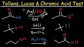 Tollens Reagent Mechanism Lucas  Chromic Acid Test