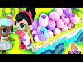 #Яйца с Сюрпризом Хэтчималс! СПАЙС ПРОТИВ ШУГАР! ЯЙЦА НА ПАСХУ!  МУЛЬТИК КУКЛЫ ЛОЛ!  My Toys Pink
