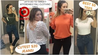 SHOP WITH US AT TARGET | AFFORDABLE FALL TRY-ON CLOTHING HAUL