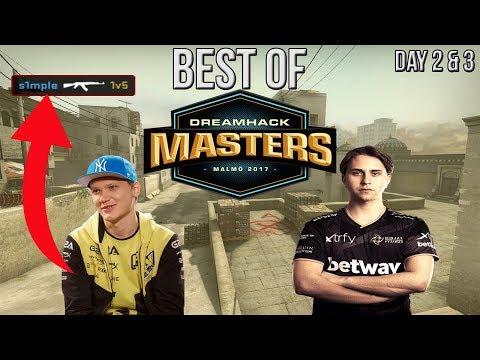 CS:GO - BEST OF DreamHack Masters Malmo Day 2 & 3 (s1mple 1v5, draken 1v2)