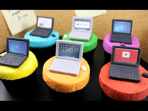 Tech Cupcakes! How to Make Mini Laptop Computer Cupcakes with Cupcake