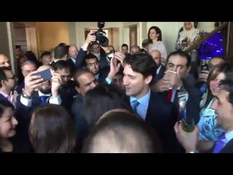 Right Honourable Justin Trudeau at the Network 100 event 2016