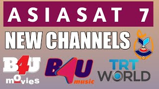 #asiasat7 Asiasat 7 New Channels Added