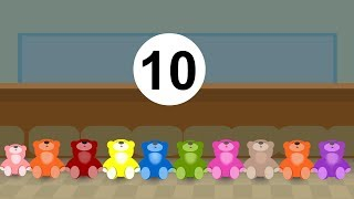 Ten in the bed-Nursery Rhyme with Lyrics | Kids Songs By Tiny Dreams